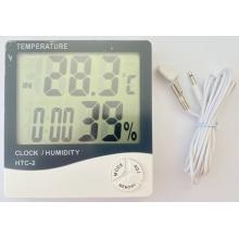 Термогигрометр HTC-2 - 2 температуры (поочередная смена), часы будильник метеостанция