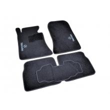 Коврики в салон ворсовые (текстильные) Mercedes E124 (1984-1997) /Чёрные, кт 5шт