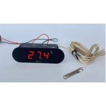 Цифровой датчик температуры -20℃ ~ 300℃ - выносной датчик и указатель температуры двигателя 12В (врезной)
