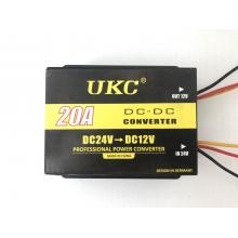 Преобразователь напряжения - инвертор 24В - 12В 20А UKC