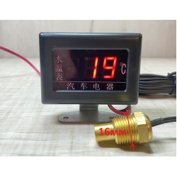 Цифровой датчик температуры двигателя 12В - 24 вольта (Ø - 16мм)