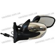 Зеркала боковые/ ВАЗ 04,05,07/ антиблик с поворотом (2 шт.) YH-3298A Bk/Ch