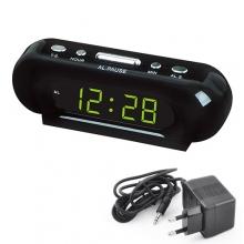 Часы сетевые настольные VST 716-2 220В с зеленой подсветкой