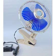 Вентилятор автомобильный с прищепкой и регулировкой на козырек 15 см, 12 вольт, Vitol ВН.12.607С/HF-307C