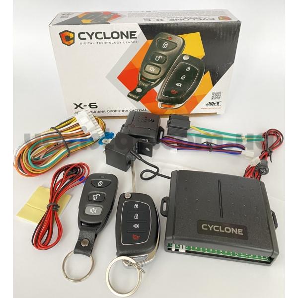 Односторонняя сигнализация на автомобиль Cyclone X6 LC без сирены