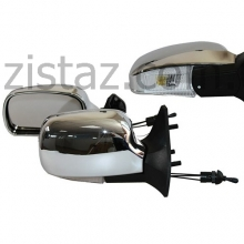 Зеркала боковые/ ВАЗ 08, 09, 13-15/ с регулировкой и поворотом, антиблик (2 шт.) YH-3109А Chrome