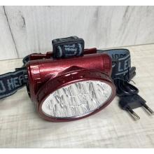Налобный фонарик YJ-1898, 13led/ аккумуляторный
