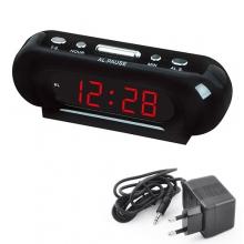 Часы сетевые настольные VST 716-1 220В с красной подсветкой