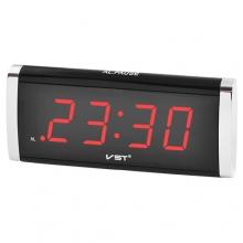 Часы VST VST-730 сетевые 220В led будильник красные цифры