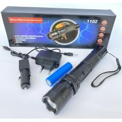 Фонарик + отпугиватель собак Police BL-1102 50000w аккумуляторный