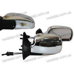 Зеркала боковые/ ВАЗ 04,05,07/ хромированные, сферические с поворотом (2 шт.) ЗБ-3107П Chrome
