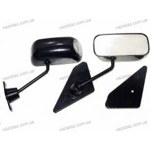 Зеркала боковые ВАЗ металлические черные с поворотом (2 шт.) ЗБ-F1П  Sport Black/Led