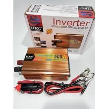 Автомобильный преобразователь напряжения UKC с 24 на 220 вольт 500W (конвертер напряжения)