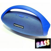 Мощная портативная блютуз колонка большая с басами Hopestar H31 34Вт, 6000mAh, радио, синяя