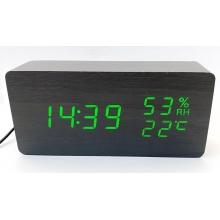 Часы электронные настольные + термометр + гигрометр + будильник VST-862S-4 зеленые USB DC5V / 4 ААА