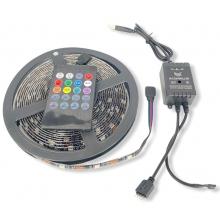 Светодиодная лента с пультом, музыкальная подсветка RGB LED, в USB 5м комплект