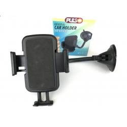 Держатель для телефона на гибкой ножке в авто на лобовое стекло Pulso UH-2054BK (50-90мм)