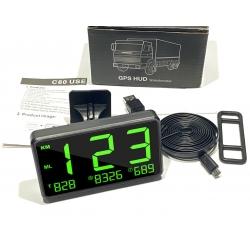 Универсальный беспроводной цифровой GPS спидометр для автомобиля, мотоцикла, лодки от USB HUD C80