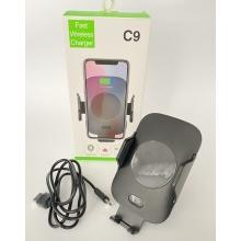 Автомобильное беспроводное зарядное устройство с автоматическими - раздвижными держателями в авто с технологией Qi Fast Charge с сенсорным датчиком C9