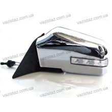 Зеркала боковые универсальные хромированные с регулировкой и поворотом (2 шт.) YH-3261 Chrome