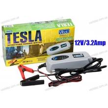 Зарядное устройство TESLA ЗУ-10630 импульсного типа для автомобильного аккумулятора | 12V 3.2A/1,2-120AH/3реж | светодиод