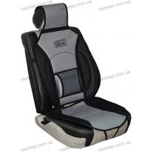 Накидка на сиденье дерматин+сетка чорно-серая MF-1007 Vitol