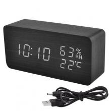 Часы электронные настольные + термометр + гигрометр + будильник VST-862S-6 белые USB DC5V / 4 ААА