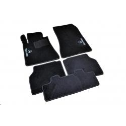 Коврики в салон ворсовые (текстильные) Mercedes S140 (1991-1998) /Чёрные 5шт