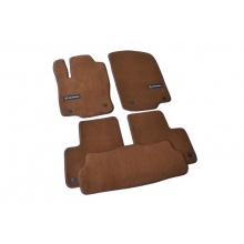 Коврики в салон ворсовые (текстильные) Mercedes ML/GL/GLE166 (2011-) Коричневые Premium