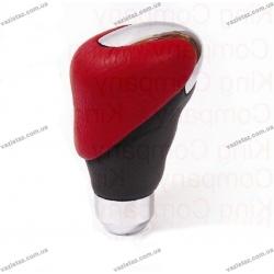 Ручка КПП 2088 красно-черная/хром