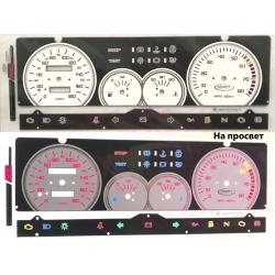 Вставки в панель приборов ВАЗ 2108, 2109, 21099 (высокая панель)
