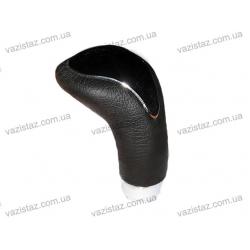 Ручка КПП 52083 алюмин+кожа черная