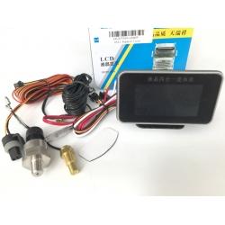 Цифровой датчик давления масла + датчик температуры ОЖ двигателя + датчик уровня топлива + вольтметр 12-24 вольта Ø М10
