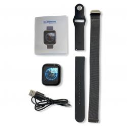 Фитнес-браслет (смарт часы с приемом звонков) Apl band T99S, голосовой вызов, два браслета, black