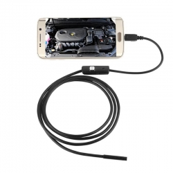 Эндоскоп - бороскоп, мини камера цифровая для телефона Андроид USB SUN 2 метра 5,5 мм