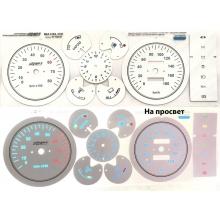 Вставки в панель приборов ВАЗ 2104, 2107 белая-2