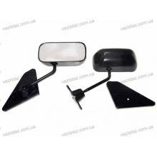 Зеркала боковые Ф1 на ВАЗ металлические черные (2 шт.) ЗБ-F1 Sport Black
