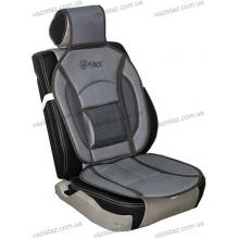 Накидка на сиденье дерматин+сетка серая MF-1007 Vitol