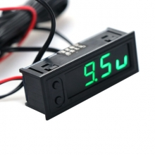 Автомобильные часы - термометр (2 датчика -35 ~ 120 ℃) - вольтметр 12В-24В врезные в панель