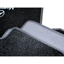 Текстильные (ворсовые) коврики в салон Mercedes E210 (1995-2002) (задний привод) /Чёрные, 5шт