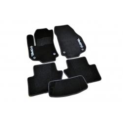 Коврики в салон ворсовые (текстильные) Opel Zafira B (2005-2012) АКП /Чёрные 5шт
