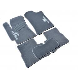 Коврики в салон ворсовые (текстильные) Hyundai Accent (2006-2010) (Verna) /Серые, кт 5шт