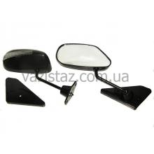 Зеркала боковые с поворотом ВАЗ черные (2 шт.) ЗБ-F2 П Sport Black/Led