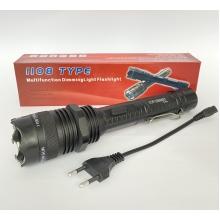 Тактический фонарик с отпугивателем Police BL-1108 COP-258000KV, ЗУ 220В, аккумуляторный