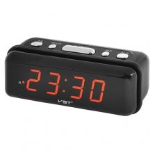Часы VST VST-738 настольные сетевые 220В будильник с красными цифрами