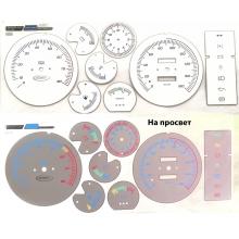 Вставки в панель приборов ВАЗ 2104, 2107 белая-1