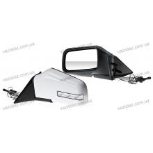 Зеркала боковые универсальные белые с регулировкой и поворотом (2 шт.) ЗБ-3287А White