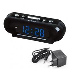 Часы сетевые VST 716-5 с синей подсветкой