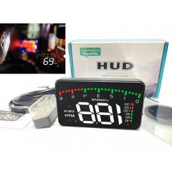 Проектор скорости на лобовое стекло, проекция приборной панели HUD A900 (спидометр, тахометр, температура ОЖ, вольтметр)