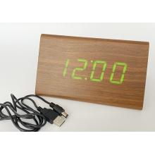 Часы VST-868 сетевые электронные USB DC5V / 4 батарейки AA, зеленые